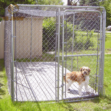 Heavy Duty Steel Frame Chain Link Wire Box Outdoor Dog Kennel