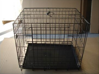 "24"", 30"", 36"", 42"", 48"" Powder Coated Collapsable Metal Wire Dog Crate"