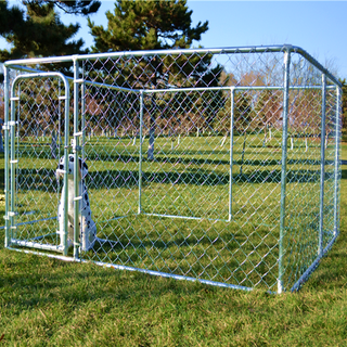 2.3x2.3x 1.2m outdoor large chain link dog kennel dog run pet playpen pet enclosure