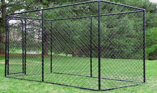 Hot dipped galvanized Chain Link mesh Outdoor Large dog cage