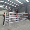 Pasture Livestock Fence with Oval Rails Portable Horse Corral Round Pen Panels