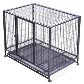 Dog cage with Wheels Portable Pet Puppy Carrier Crate Cage