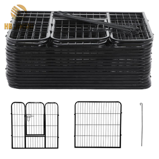 8 panels Metal Welded Wire Pet Play Ground Dog Kennel