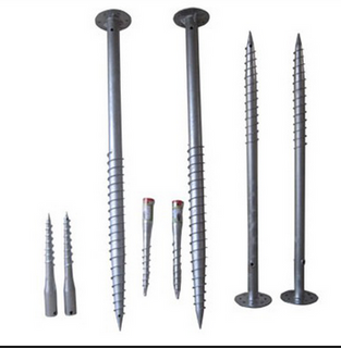 1.6m length heavy galvanized steel ground screw for solar mounting & earth screw pile for flag pole & ground screw for fence post