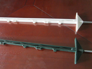 Plastic Double step Electric fence post